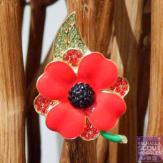 2018 Poppy Scout Woggle