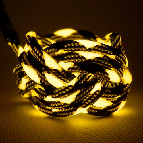 Bumble Bee Luminescent Turks Head Scout Woggles