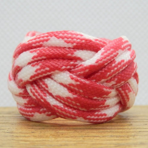 Strawberries and Cream Small Paracord Woggle