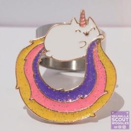 Rainbow Caticorn Scout Woggle