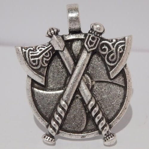 Viking Axe and Shield Scout Woggles