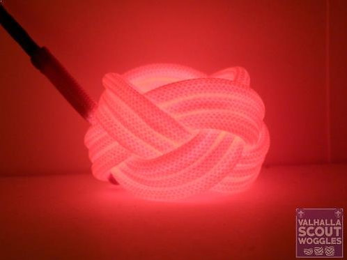 Pink Luminescent Turks Head Scout Woggles