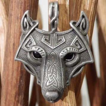 Norse Wolf Head Scout Woggle