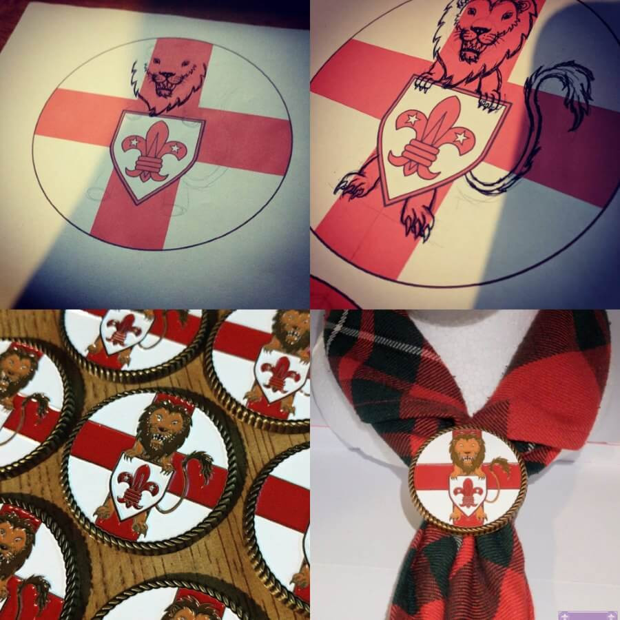 English Scouting Scout Woggle