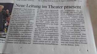 Abschied von Theater praesent
