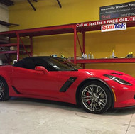 Not a bad way to end 2016 with this #2017chevroletcorvette tinted _greenvillewindowtintingnc with Suntek Carbon 35% 😎👌💯#chevy #2017chevycorv