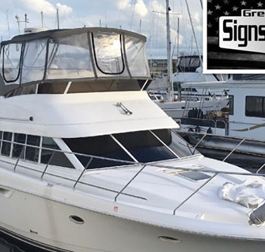Beautiful Yacht tinted by _greenvillesignsandtint in New Bern, NC with #SuntekCarbonBlack _suntekfilms #suntek #tintlife😎🤙 #yacht #yachtlife