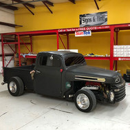 Late night project at the tint shop. #ratrod tinted _greenvillesignsandtint for  _tim27858 _prism_powdercoating .jpg