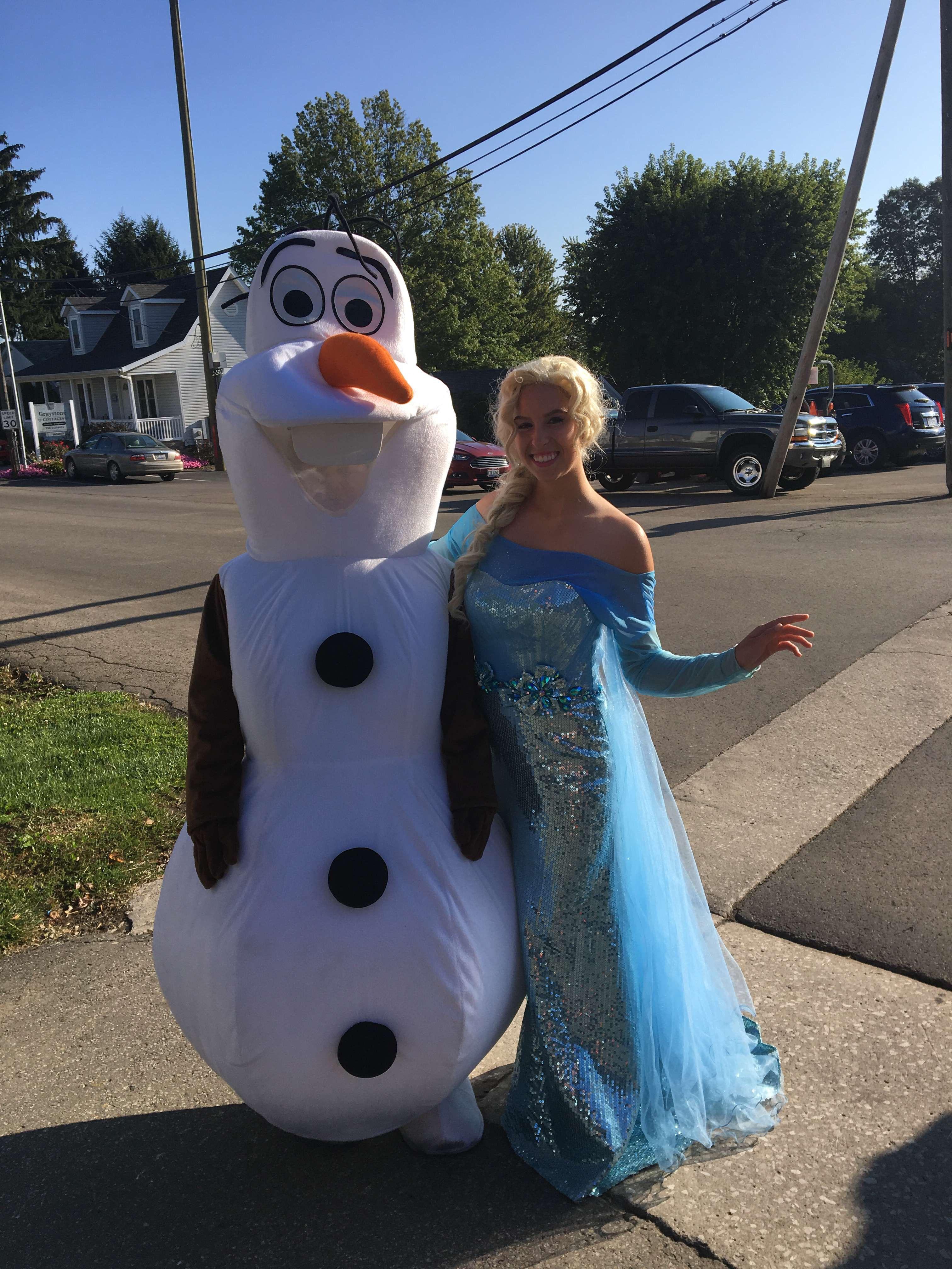 Olaf and Elsa