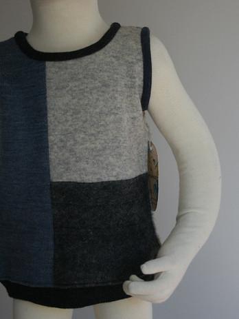 Patch Wool Vest $48