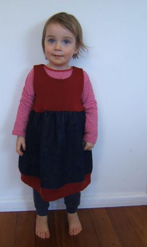 Tulip Dress -Wool/Denim (without pockets) $70