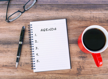 Virtual Meetings 101: Agenda, the Productivity Road Map