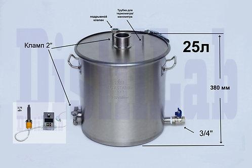 Бак 25л с крышкой 3 мм+Тэн 3,75 кВт+упр. (газ/инд/тэн)
