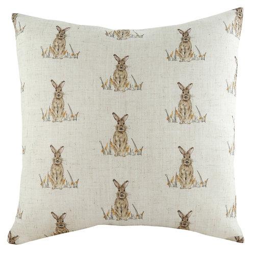 Oakwood Hare Repeat Cushion Poly Fill 43cm x 43cm