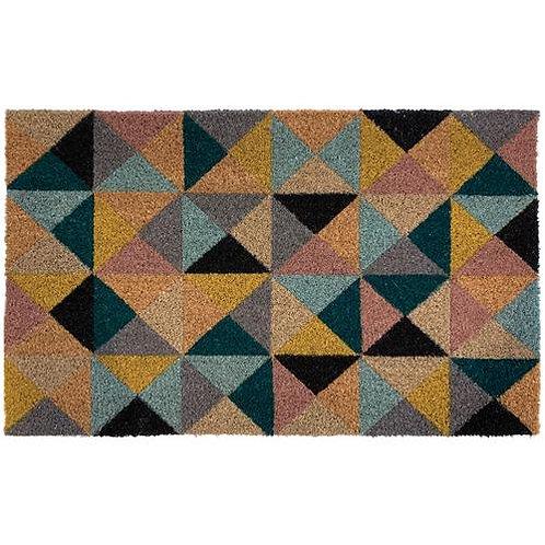 My Mat Printed Coir Doormat Geo 1 Triangle