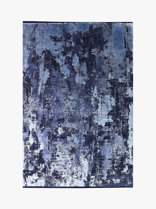 Toros Overdyed Abstract Ink Rug