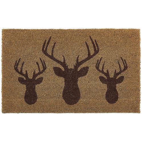 My Mat Printed Coir Doormat Stags Head