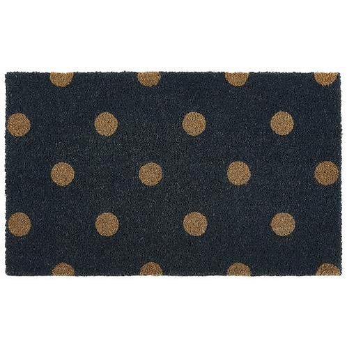 My Mat Printed Coir Doormat Polka Dots