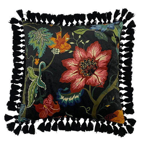Botanist Cushion Black 50cm x 50cm