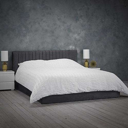 Berlin Ottoman Bed - Silver