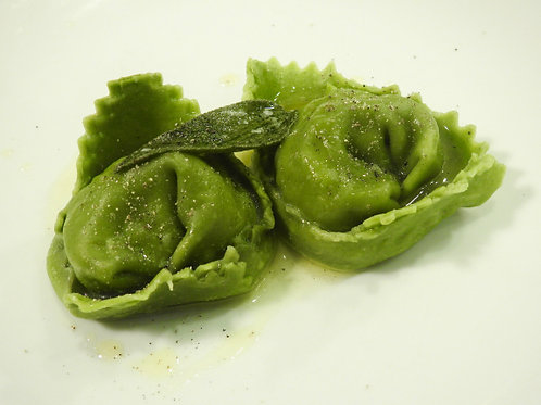 Courgette Flower and Soft Goat Cheese Tortellini