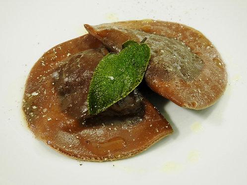 Mezzelune filled with Porcini mushroom and potato