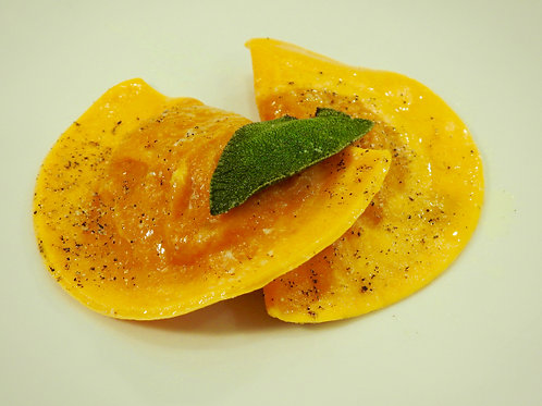 Mezzelune filled with Pumpkin and Sage