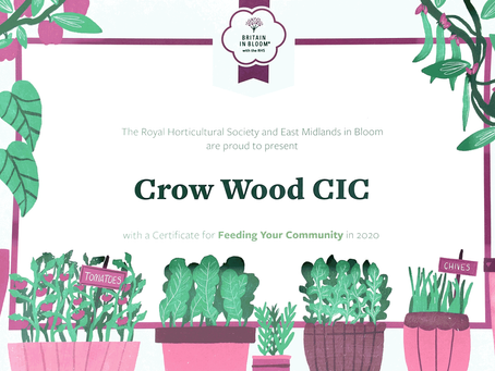 News: Support from the Royal Horticultural Society!