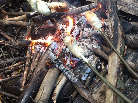 News: Lovely bread on a stick, in the woods