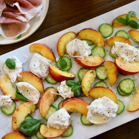 Peach and Burrata Summer Salad
