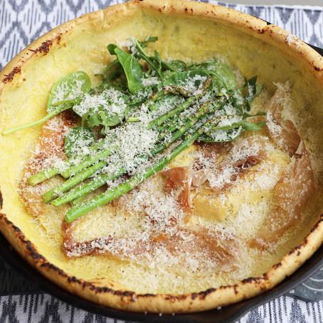 Savory Prosciutto & Asparagus Dutch Baby