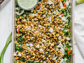 Roasted Corn + Arugula Garden Salad
