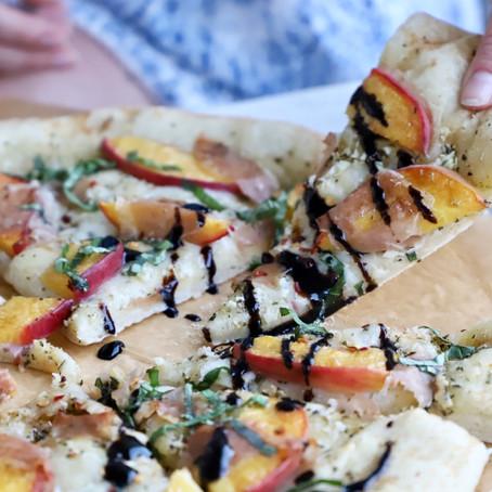 Peach & Prosciutto Pizza Bianca