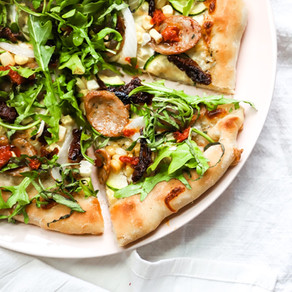 Garden Skillet Pizza - oven or grill