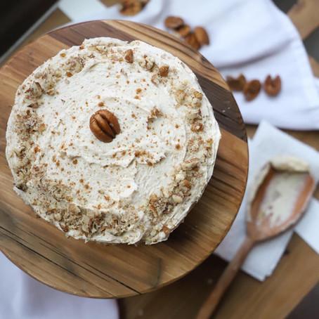 Small Batch Butter Pecan Cake