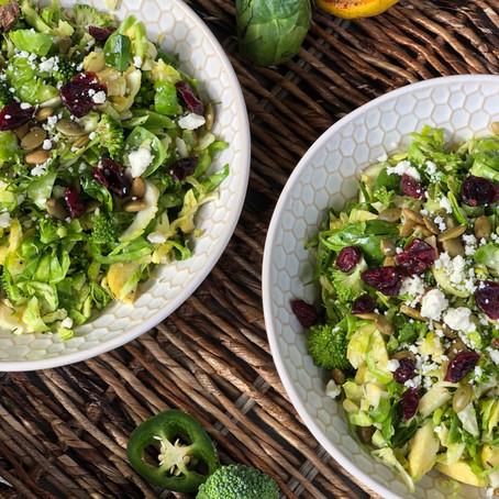 Shaved Brussels Salad (w/ lemon vinaigrette)