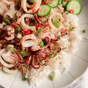 Calamari Rice Bowl