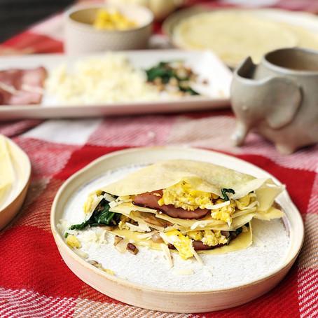 Savory Breakfast Crêpes