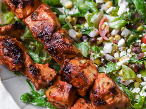 Chipotle Chicken Skewers w/ Southwest Caesar