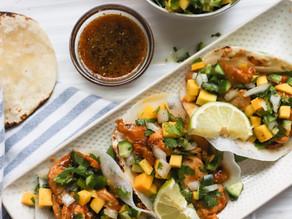 Beach Vacation Island Chicken Tacos w/ Mango Salsa