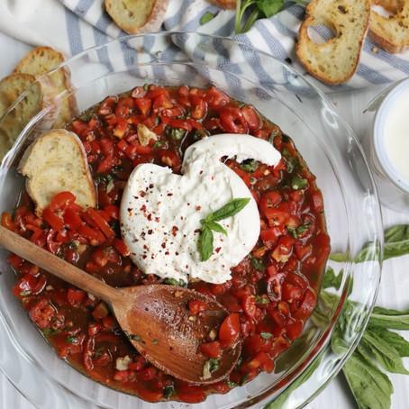 Balsamic Bruschetta & Burrata Dip