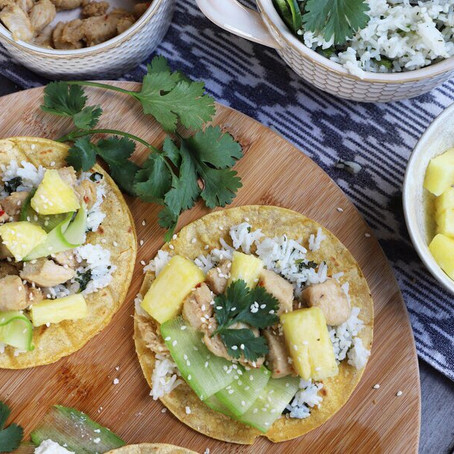 Ginger Chicken & Pineapple Tacos