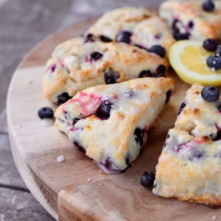 Cakey Blueberry Lemon Scones