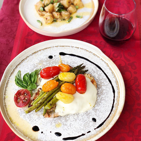 Caprese Chicken with Asparagus