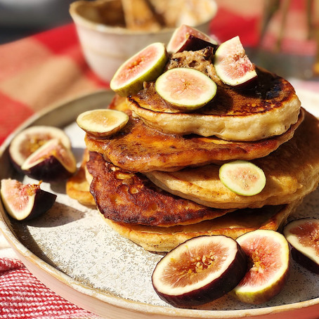 Maple Pancakes w/ Brown Sugar Fig Butter