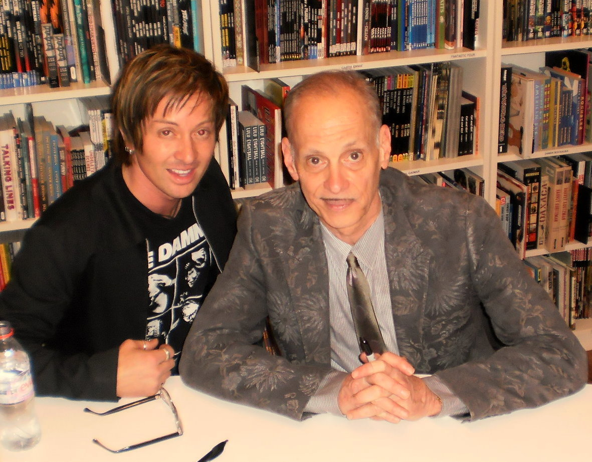 Johnny Alonso & director John Waters