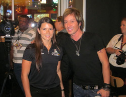 Danica Patrick and Johnny Alonso