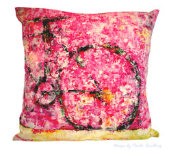 "Cushion ""Bike III"" 47x47cm - Velvet"