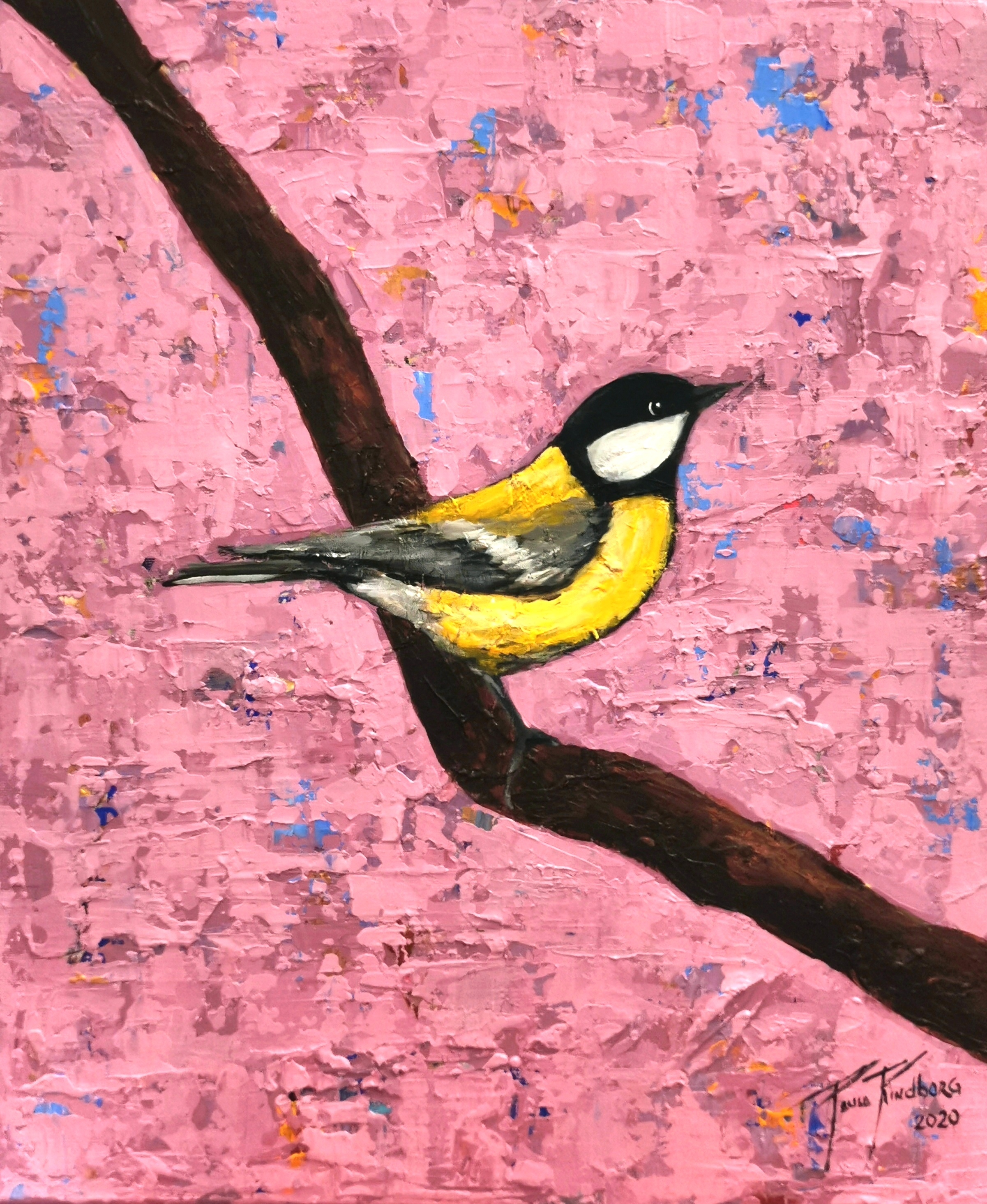 A bird on my abstract world nr. 8