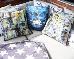 Cushions in linen